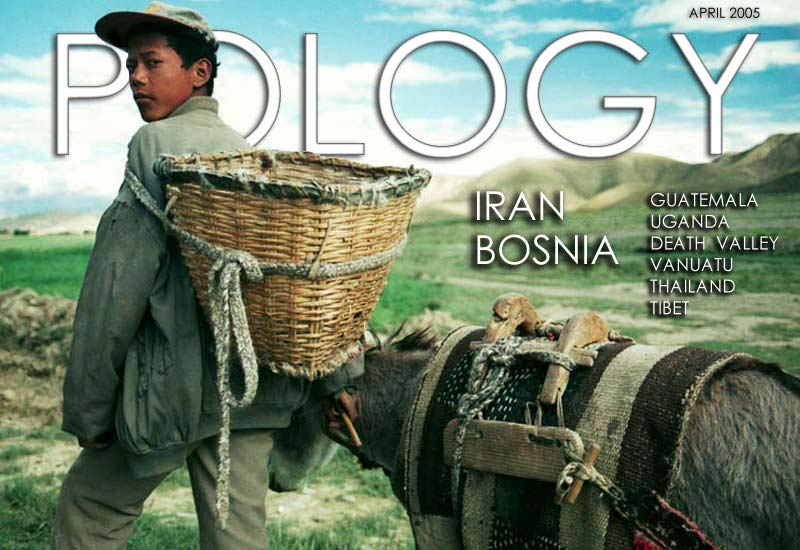 The cover of Pology Magazine -  A magazine about travel and world culture.  Pology features travel photography and travel writing.